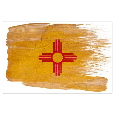 New Mexico Flag Wall Art Poster