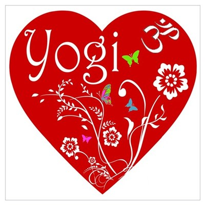 YOGI HEART Wall Art Poster