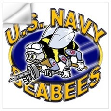 USN Navy Seabees Mad Bee Wall Art Wall Decal