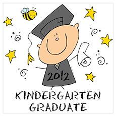 Cute Boy Kindergarten Grad 2012 Wall Art Poster