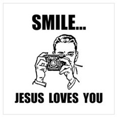 Smile Jesus Loves You Wall Art Canvas Art