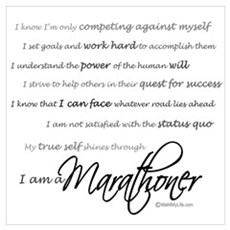 I Am a Marathoner Wall Art Framed Print