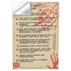 Zombie Fact Sheet Wall Art Wall Decal