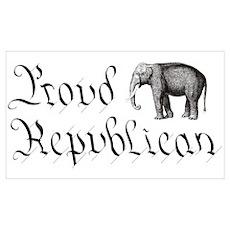 Proud Republican Wall Art Poster