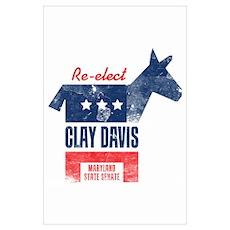 Re-elect Clay Davis Print Wall Art Poster