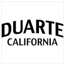 Duarte California Wall Art Poster