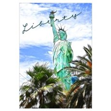 Tropical Liberty - Wall Art Framed Print