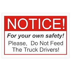 Notice / Truck Wall Art Poster