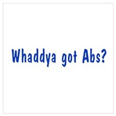 NCIS: Whaddya Got Abs? Wall Art Framed Print