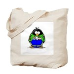 Race Car Penguin Tote Bag