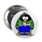 Race Car Penguin Button