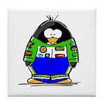 Race Car Penguin Tile Coaster