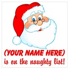 Personalized Naughty List Wall Art Canvas Art