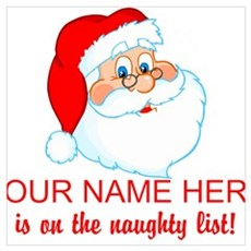 Personalized Naughty List Wall Art Poster