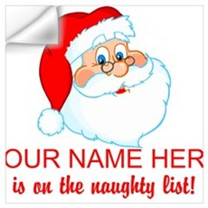 Personalized Naughty List Wall Art Wall Decal