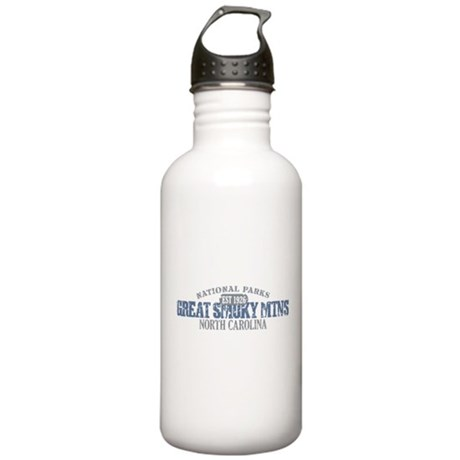 Great Smoky Mountains NC Stainless Water Bottle 1.
