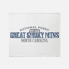 Great Smoky Mountains NC Throw Blanket