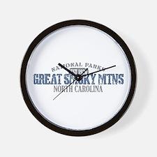 Great Smoky Mountains NC Wall Clock