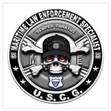USCG Maritime Law Enforcement Wall Art Poster