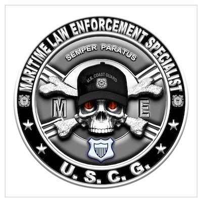 USCG Maritime Law Enforcement Wall Art Poster