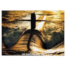 USS MARYLAND Wall Art Poster