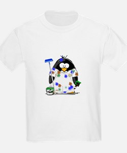 Painter Penguin Kids T-Shirt