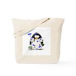 Painter Penguin Tote Bag