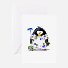 Painter Penguin Greeting Cards (Pk of 10)