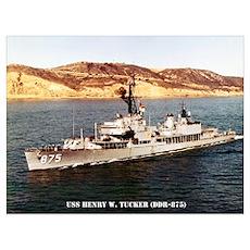 USS HENRY W. TUCKER Wall Art Poster