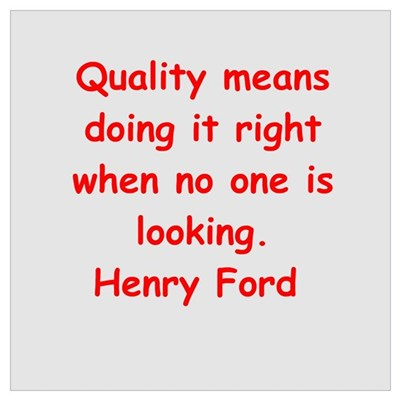 Henry Ford quotes Wall Art Framed Print