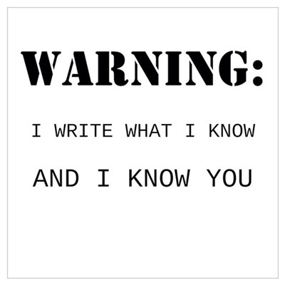 Write What You Know Wall Art Poster