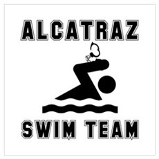 Alcatraz Swim Team Wall Art Poster