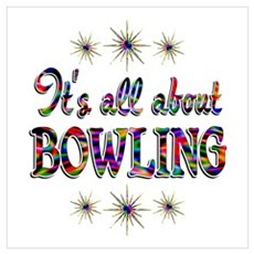 About Bowling Wall Art Poster