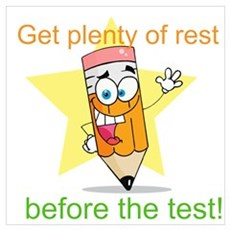 Rest Before the Test Wall Art Poster