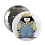 Farmer Penguin Button