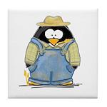 Farmer Penguin Tile Coaster