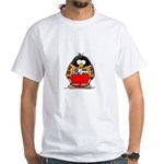 Auto Racing Penguin White T-Shirt