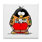 Auto Racing Penguin Tile Coaster