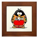 Auto Racing Penguin Framed Tile