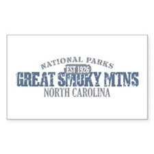 Great Smoky Mountains NC Decal