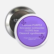 "Dravet Purple Day Single 2.25"" Button"