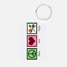 Peace Love Vegan Keychains