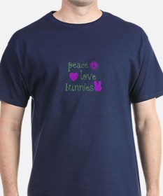 Peace, Love and Bunnies T-Shirt