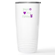 Peace, Love and Bunnies Travel Mug