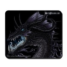 Black Ice Dragon Mousepad