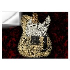 Guitar Mosaic Artwork Wall Art Wall Decal