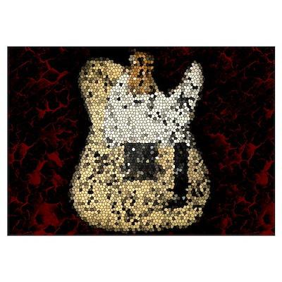 Guitar Mosaic Artwork Wall Art Poster