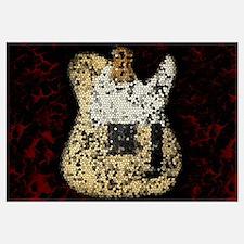 Guitar Mosaic Artwork Wall Art