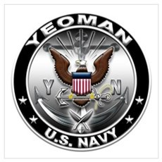 USN Yeoman Eagle YN Wall Art Framed Print