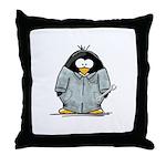 Mechanic Penguin Throw Pillow